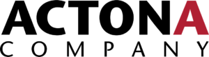 Actona Company logo black red A pantone186C-kopia
